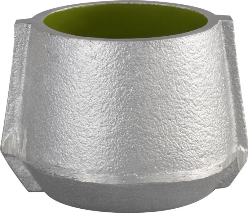 molten green candleholder