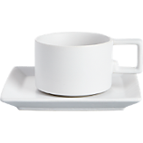 mood white cup and saucer