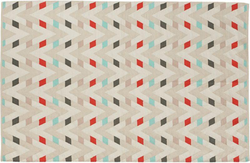 muku cotton dhurrie rug 6'x9'