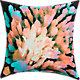 "napali flower 18"" pillow with down-alternative insert"