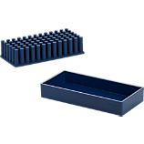 Poppin ® 2-piece navy grip grass and tray set