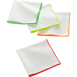 set of 4 neon edge cocktail napkins