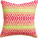 "neon prism knit 16"" pillow with down-alternative insert"