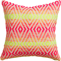 "neon prism knit 16"" pillow"
