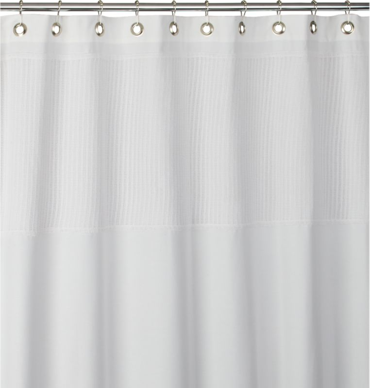 netty white shower curtain