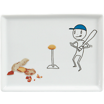 oliver baseball appetizer plate