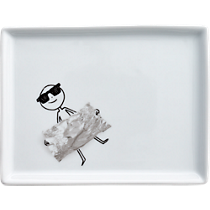 oliver candy wrapper appetizer plate