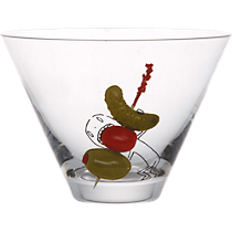 oliver veggie pick martini glass