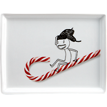 oliver peppermint sled appetizer plate