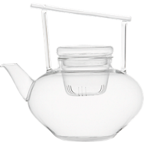 om beaker glass teapot