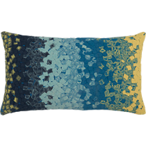 "ombre fossette 20""x12"" outdoor pillow"
