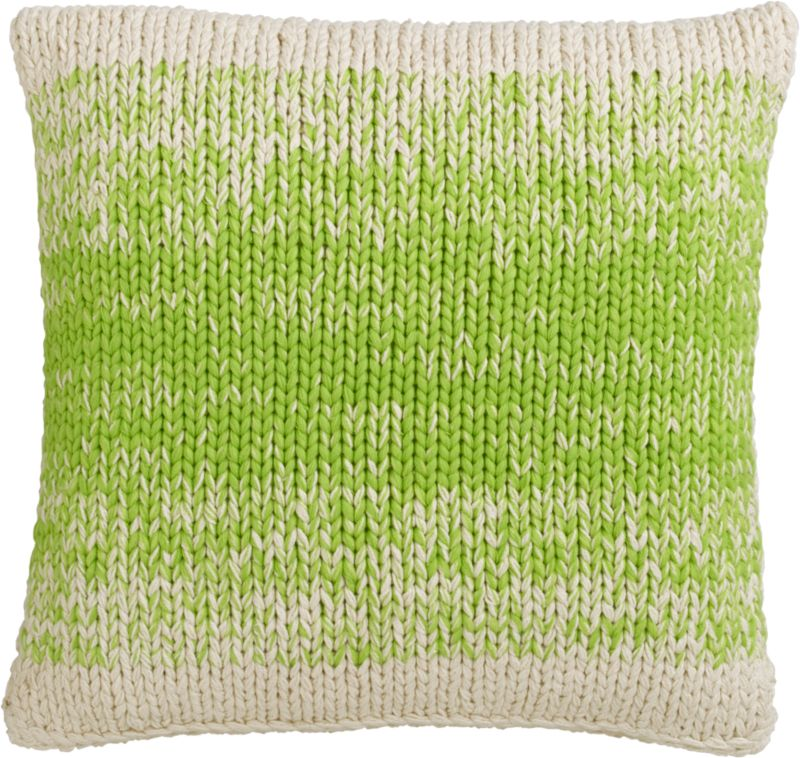 "ombre green knit 20"" pillow"