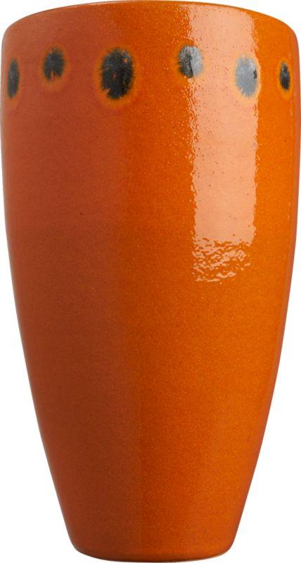 orange dot vase