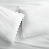 standard organic white percale pillowcases set of 2