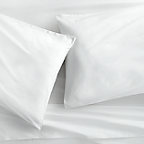 king organic white percale sheet set