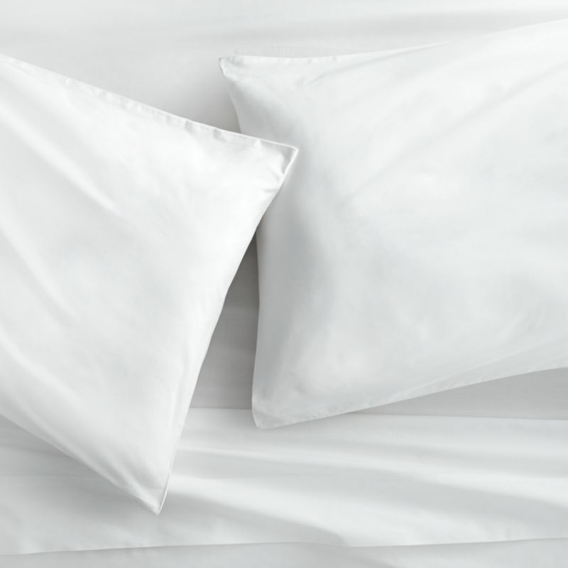 organic white percale queen sheet set