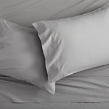 queen organic cement percale sheet set
