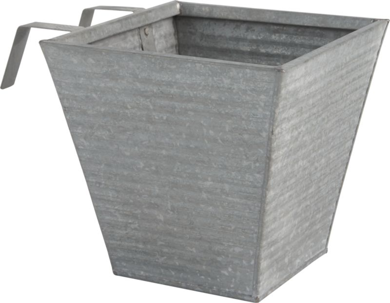 "<span class=""copyHeader"">manufacturing plant.</span> Galvanized steel corrugate gives rise to plants and grasses. Sized for single plants to green small outdoor spaces. Hooks right onto windowsill with optional oscar babe rail frame. Removable insert makes for easy planting.<br /><br /><NEWTAG/><ul><li>Corrugated steel</li><li>Removable insert</li><li>Indoor/outdoor use</li><li>Clean with damp cloth</li></ul>"