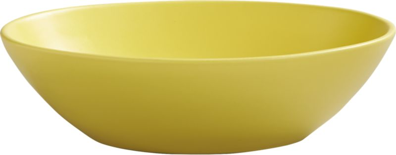 oval yellow bowl