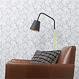 palm black and white self-adhesive wallpaper