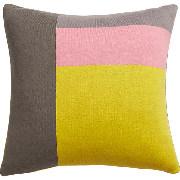 """panels 20"""" pillow with feather insert"""