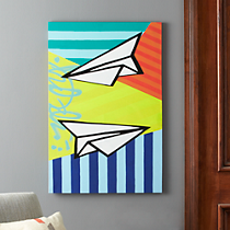 paper planes painting