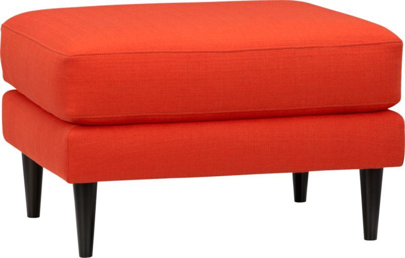 parlour atomic orange ottoman