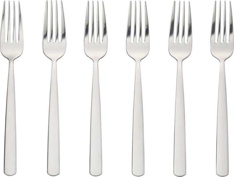 party forks set of six CB2 : party forks set of six from www.cb2.com size 598 x 598 jpeg 25kB