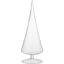 paz small clear glass tree