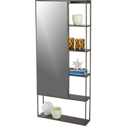peek shelf with mirror