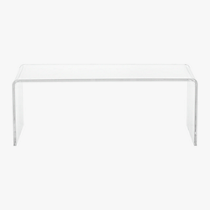 peekaboo clear coffee table