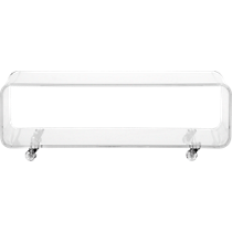 peekaboo clear media console