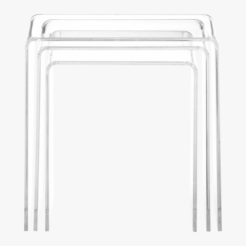peekaboo clear nesting tables set of 3