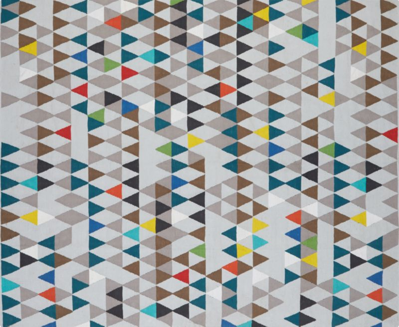 pembetatu cotton dhurrie rug 8'x10'