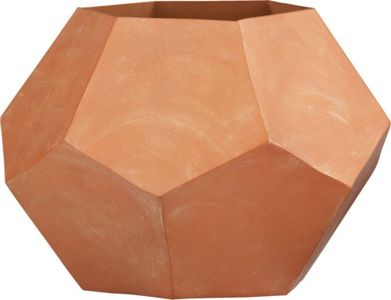 pentagon metal vase-planter