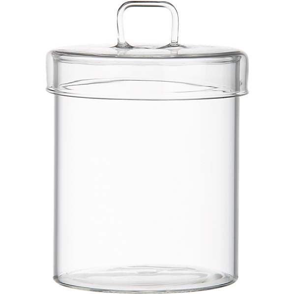 Stainless steel canister with lid cb2 for Bathroom containers with lids