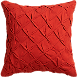 "pintuck red-orange 18"" pillow"
