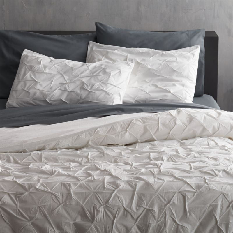 Melyssa White Full Queen Duvet Cover Cb2