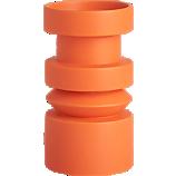 piston orange candle holder