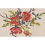 pixel flower rug 5'x8'