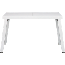 pocket white extension dining table