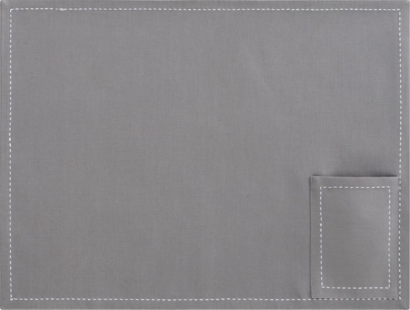 pocket grey placemat
