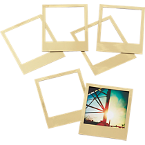 magnetic gold frames set of six