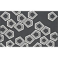 polygon dhurrie charcoal rug 5'x8'