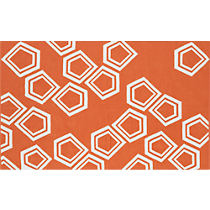 polygon dhurrie orange rug