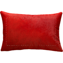 "pony up red 18""x12"" pillow"