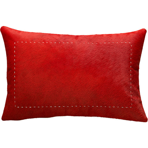 PonyUpPillowRed18x12F13