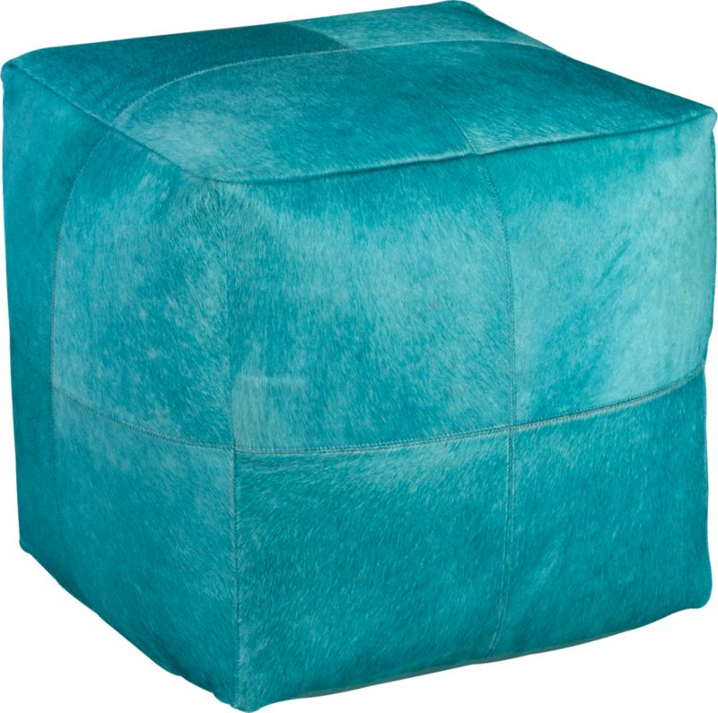 pony up aqua pouf