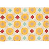 printed overlay rug 6'x9'