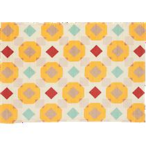 printed overlay rug
